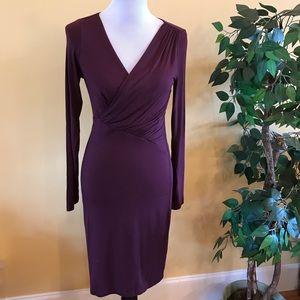 Velvet by Graham & Spencer Purple Faux Wrap Dress